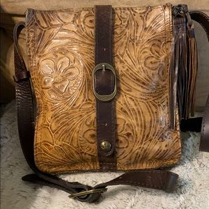 Patricia Nash Tooled Leather Crossbody Pouch